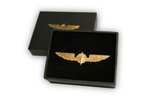 BROOCH WINGS GOLD PLATED