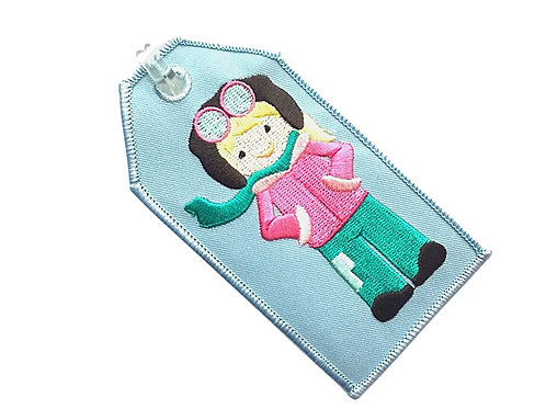 AVIATOR GIRL BAGGAGE TAG