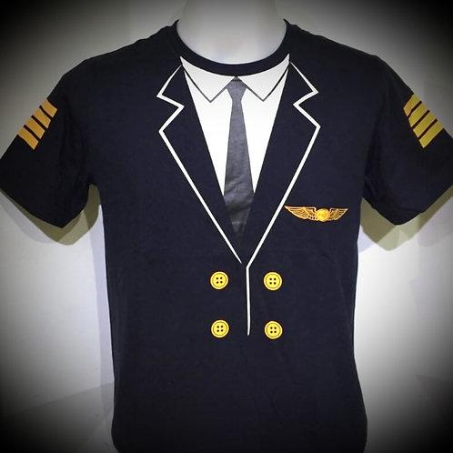 PILOT UNIFORM TEE NAVY (ADULT) - NAVY