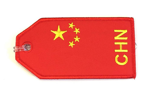 FLAG CHINA BAGTAG