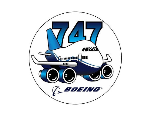 B747 Pudgy STICKER