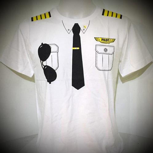 PILOT UNIFORM TEE WHITE (ADULT)