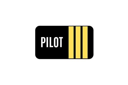 PILOT 3 STICKER