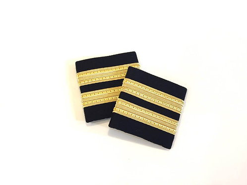 EPAULETS 2 / SOFT / BLACK / GOLD STRIPE