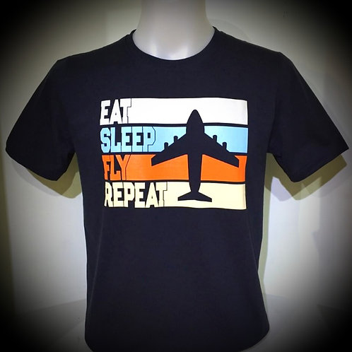 EAT SLEEP FLY TEE SHIRT