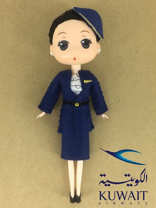 KUWAIT AIRWAYS DOLL (DARK HAIR)