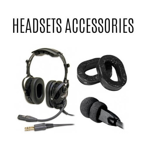 Pilot headsets and accessories