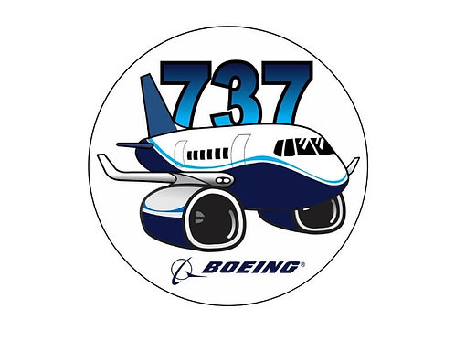 B737 PUDGY STICKER