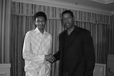Robert X. Golphin & Denzel Washington in