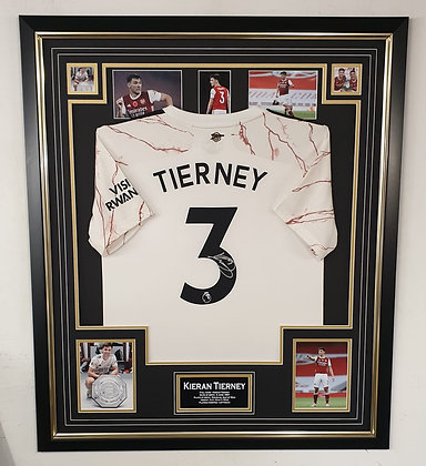 Kieran Tierney Signed Shirt  Away