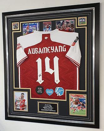 Aubameyang signed Fa cup replica shirt