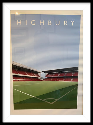 North bank/West Stand print