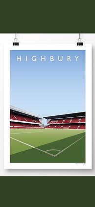 Highbury West stand/North bank