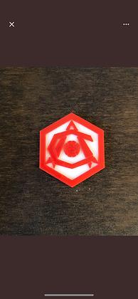 Art Deco 3D crest Fridge magnet