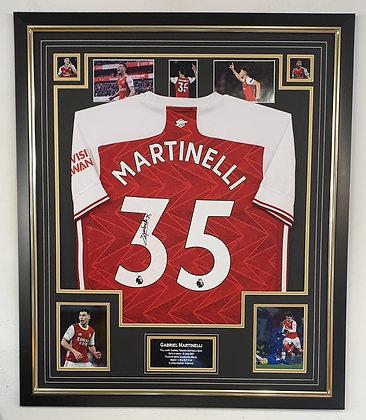 Martinelli signed shirt frame