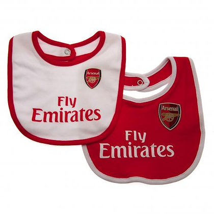 Arsenal F.C. Twin Pack Bibs Red & White
