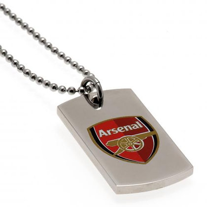 Arsenal F.C. Colour Crest Dog Tag & Chain