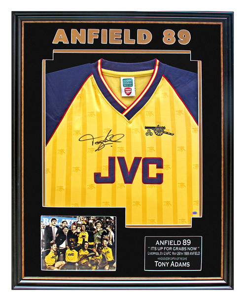 sports shoes 63f2c 2777f Tony Adams - Signed 89 League Winners Shirt