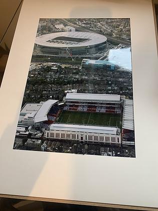 Highbury / Emirates Aerial  Print