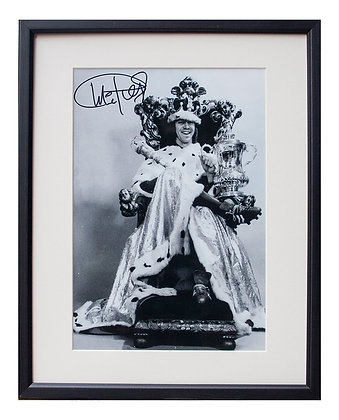 'King' Charlie George - Mounted Signed Print