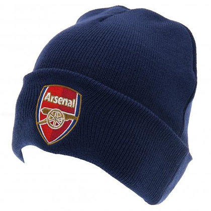 Knitted Hat - Turn Up - Navy