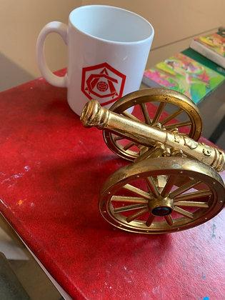 Brass vintage canon