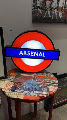 Arsenal Underground Lightbox Sign