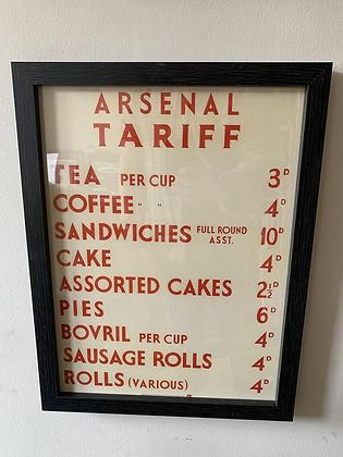 Arsenal Tariff Frame