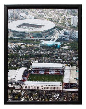 Highbury / Emirates Aerial Mounted Print