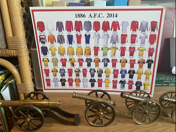 Arsenal kits collection  print