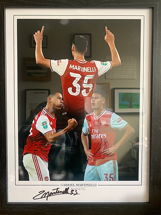 Martinelli Signed Montage  frame