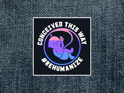 "Bi ""Conceived This Way"" Patch (Small)"