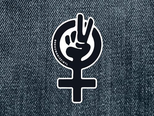 Pro-Life Feminist Symbol Patch