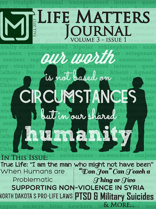 Life Matters Journal - Volume 3 Issue 1