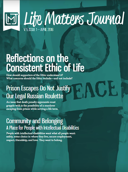 Life Matters Journal - Volume 5 Issue 1