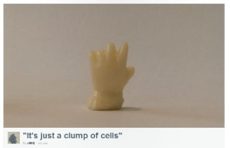 """Art, etc.: """"It's Just a Clump of Cells"""""""