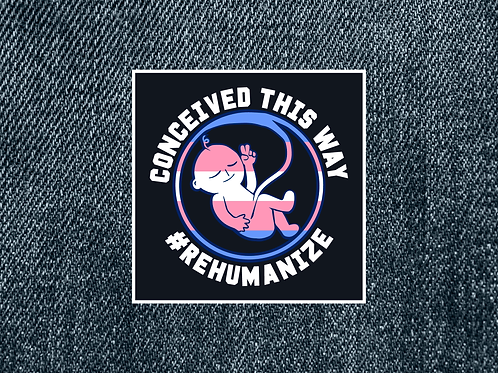"Trans ""Conceived This Way"" Patch (Small)"