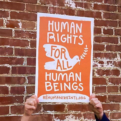 Human Rights for All Human Beings Sign