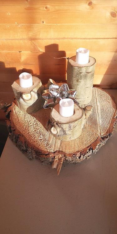 Swedish Aspen Candle Holders (Set of 3)