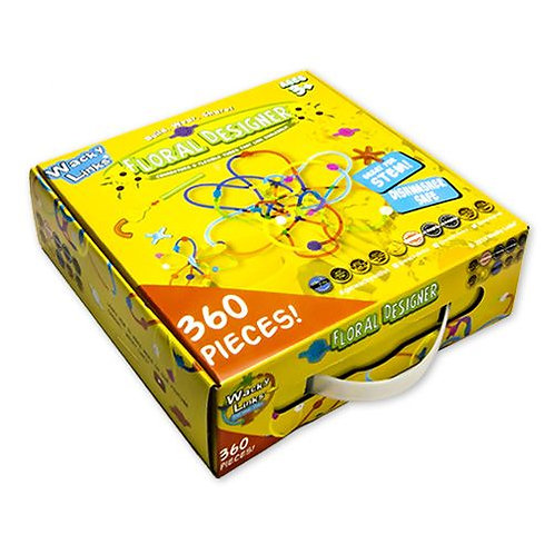 LARGE ACTIVITY PACK FLOWER AND CONNECTORS, 360 PIECES, INSTRUCTIONS INCLUDED.