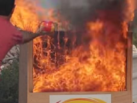 Génial : la balle israélienne qui éteint le feu