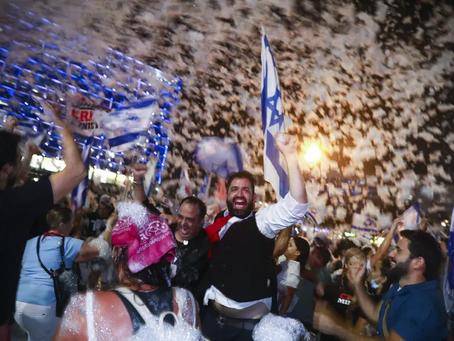 BYE BYE BIBI. Une fête Place Rabin (Tel-Aviv)