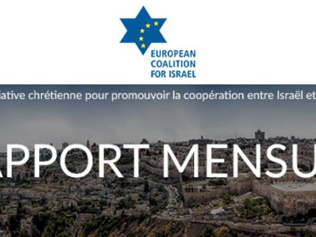 Le rapport mensuel des CEI (Coalition Européenne pour Israël) août