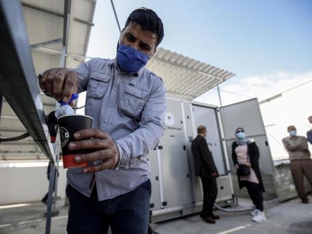 De l'air transformé en eau potable à Gaza