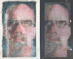 Chuck Close Example With the Grid side by side