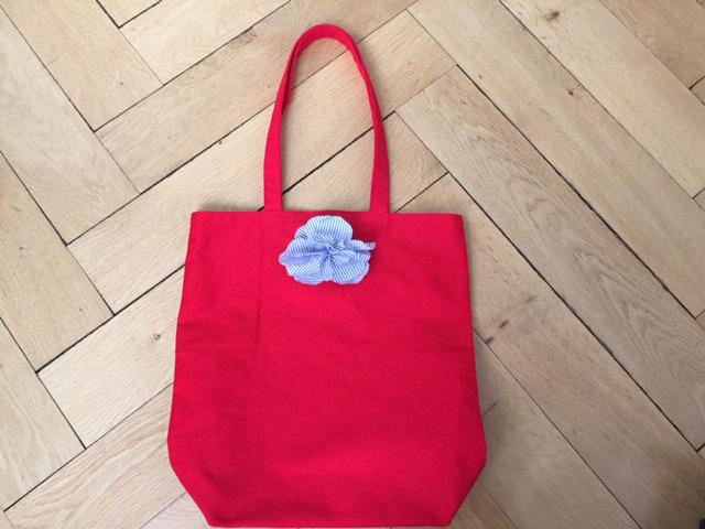 Tote Bag Rot mit Hemdfutter