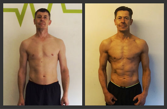 body transformation beofre and after