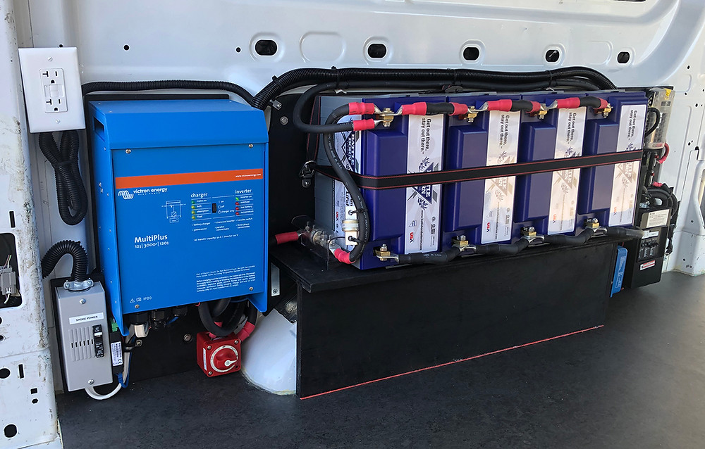 Battleborn Lithium Batteries and Victron Inverter in a Vanleigh Beacon