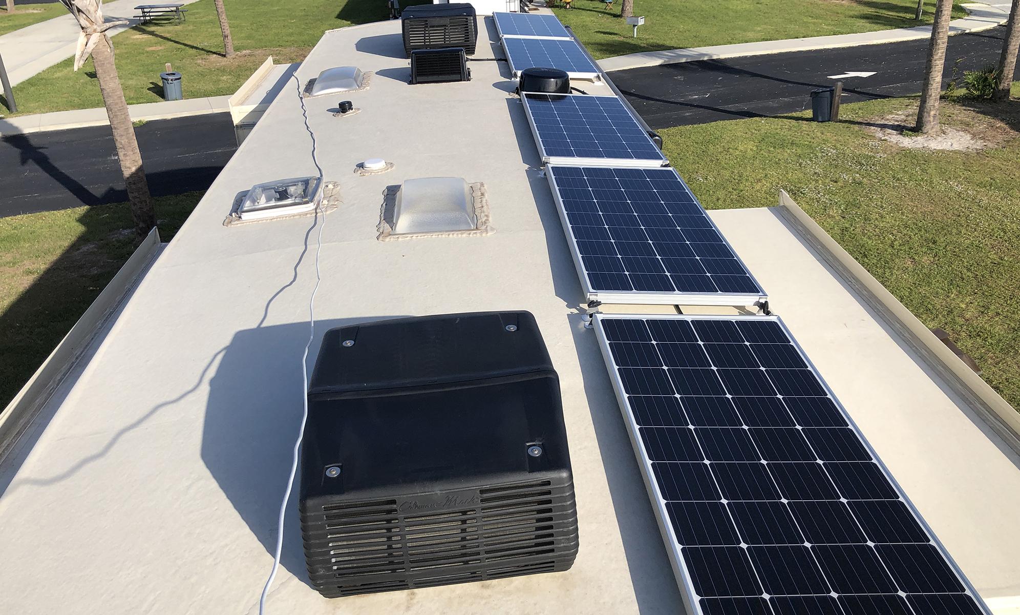 Solar Panels Off Grid Boondocking 5th Wheel RV