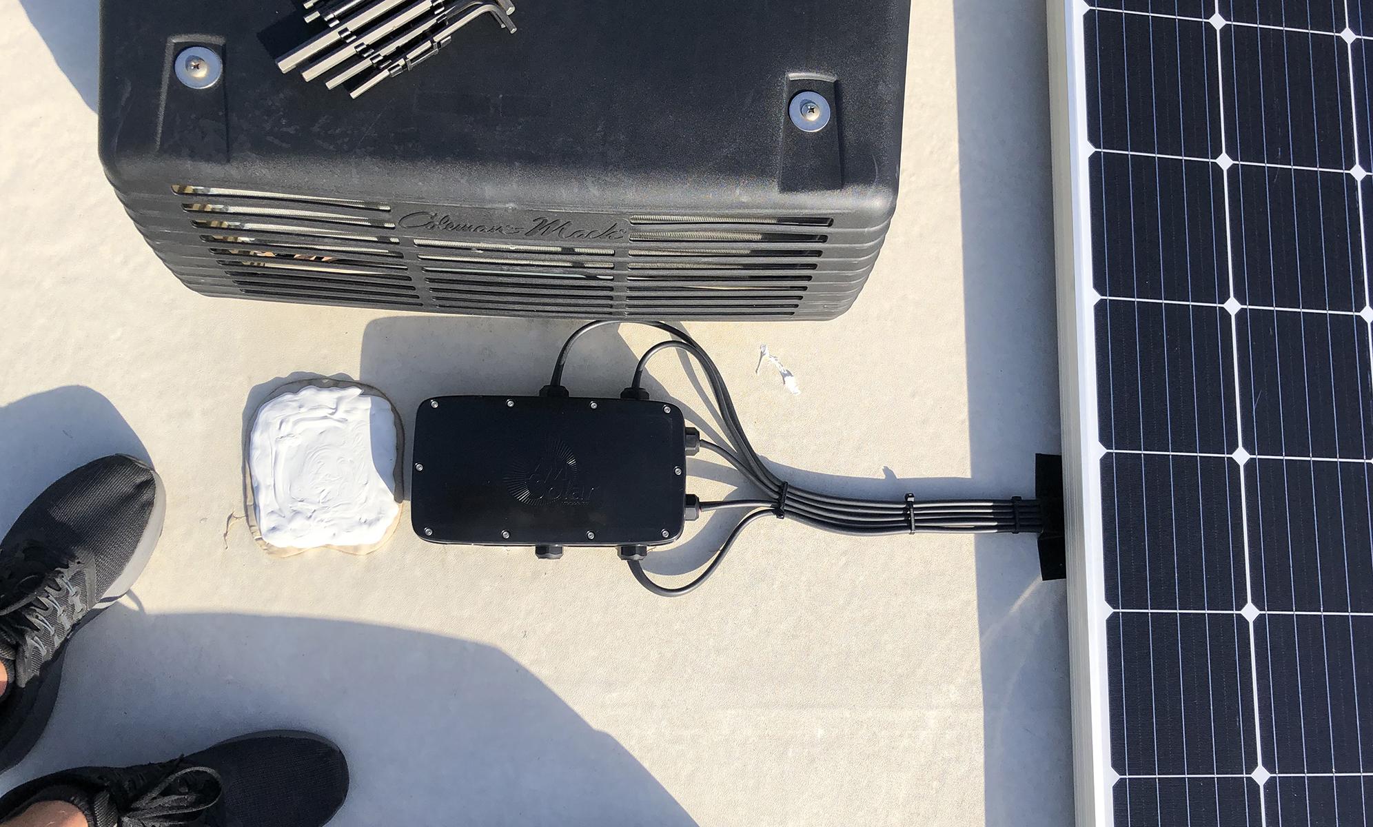 AMSolar Combiner Box Solar Panel 5th Wheel RV